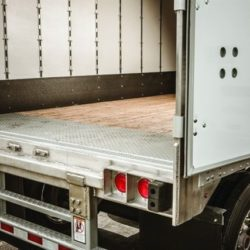 Open Truck Trailer Door