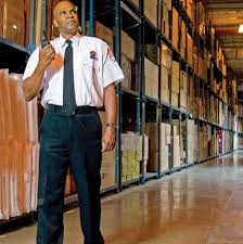 security guard in warehouse